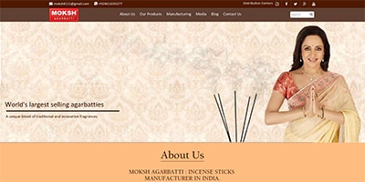 Moksh Agarbatti | Website Development